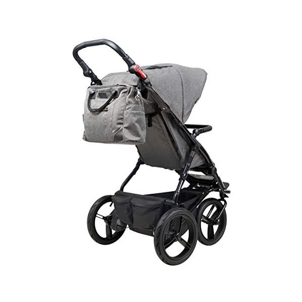 Mountain Buggy Model: Urban Jungle Luxury Collection Herringbone Including Changing Bag and Baby seat (carrycot Plus) Mountain Buggy Box contents: 1 Mountain Buggy Urban Jungle Luxury Collection Herringbone including changing bag and baby seat (carrycot plus) Product weight: 11.5 kg Seat load: 25 kg 6