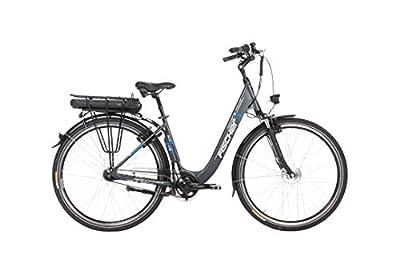 """FISCHER E-Bike City ECU 1401 (2019), anthrazit, 28"""", RH 44 cm, Frontmotor 20 Nm, 36 V Akku, 522 Wh"""
