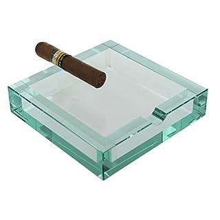 Adorini Aschenbecher bloq | Robuster Zigarrenascher aus Glas