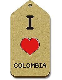 Azeeda 10 x I Love Colombia 66mm x 34mm Regalo/Equipaje Etiquetas (