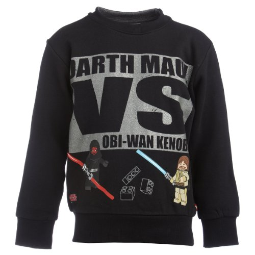 Lego Wear Jungen Sweatshirt 14054 Simon 750 - Sweatshirt, Gr. 128, Schwarz (995 Black)