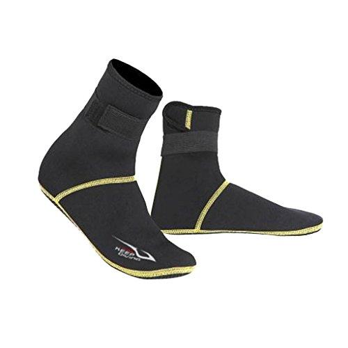 SM SunniMix Tauchsocken Herren Damen wasserdicht Neopren Socken Schuhe 3mm Taucherschuhe Tauchfüßlinge - L