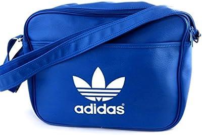 Bolsa de hombro 'Adidas'azul rey (40x29x13 cm)- 2 compartimentos.