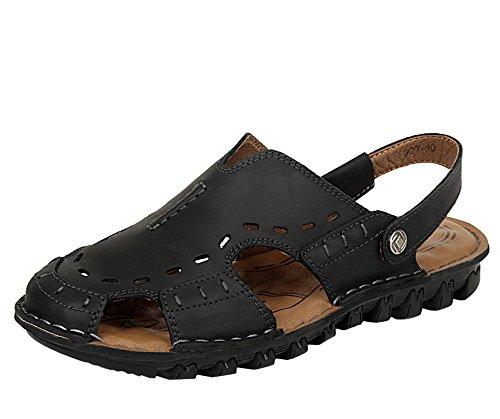 Insun Hommes Sandales De La Plage Mules Noir
