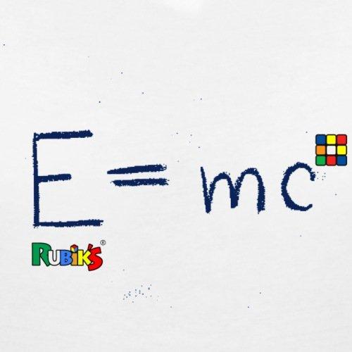 Rubik's Cube Équation Théorie De La Relativité T-shirt col V Femme de Spreadshirt® Blanc