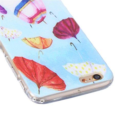 iphone 6 Coque, MYTH Doux Flexible - Coloré Parapluie Slim Silicone Ultra Mince TPU Bumper Protection Housse Pour iphone 6 / iphone 6s Coloré Parapluie