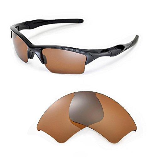Walleva Ersatzgläser für Oakley Half Jacket 2.0 XL Sonnenbrille - Mehrfache Optionen (Braun - polarisiert)