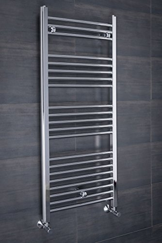 WarmeHaus Contemporary Straight Heated Towel Rail Radiator 1150 x 500 Chrome