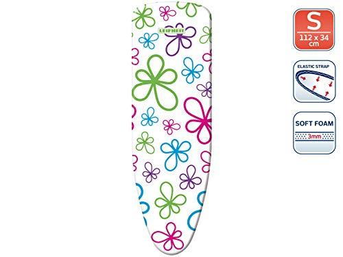 Leifheit Bügeltischbezug Cotton Classic, klassischer Baumwollbezug, mit elastischem Gummizug, für Bügelflächen bis max, farblich sortiert, Gr. 112 x 34 cm (S)
