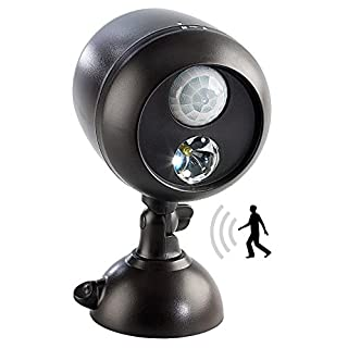 Lunartec Kabellose Außenleuchte mit PIR-Bewegungssensor und 1-W-LED