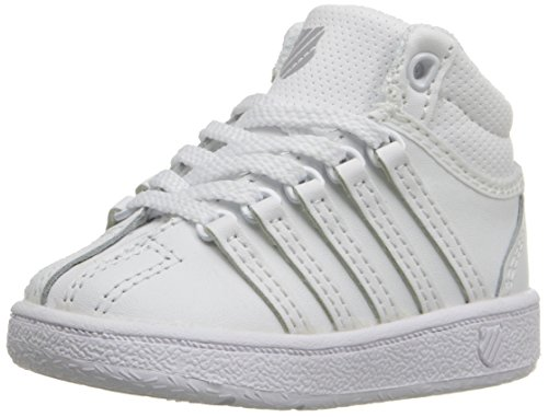 K-Swiss unisex-baby Classic VN Mid Shoe, White/White, 2 M US Infant