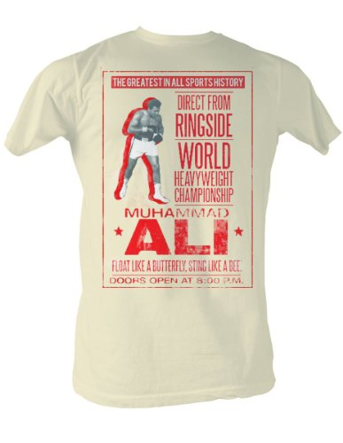 Muhammad Ali - Ali Poster Männer-T-Shirt In Dirty White Dirty White