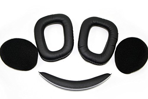 Ersatz Ohrpolster Ear Cushion für Logitech Wireless Gaming Headset G930 G430 G230 G231 G Kopfhörer (Wireless Headset F540)