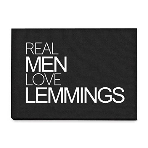 Idakoos Real men love Lemmings - Tiere - Leinwanddrucke (Tiere Lemmings)