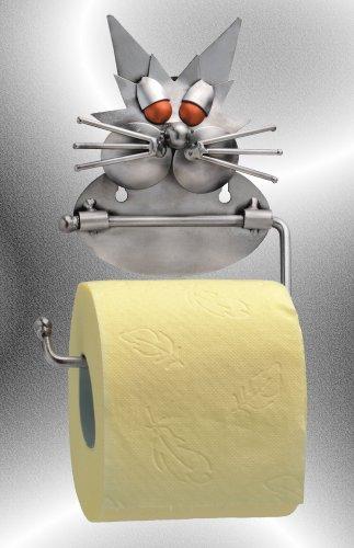 Boystoys HK Design - Toilettenpapierhalter Katze Metall Art Klopapierhalter - Original Schraubenmännchen Kollektion - handgefertigte Geschenkidee