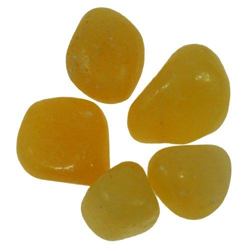 Handschmeichler, Trommelstein Honig-Calcit, Gewicht: ca. 50 Gramm, ca. 5 Stück