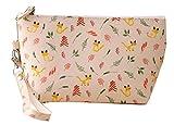 Lumanuby Mode Kosmetiktasche Toiletbag für Reisen klein Geldbeutel Make-up Tasche für Damen,Gelb