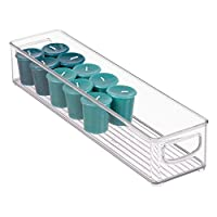 iDesign Cabinet/Kitchen Binz Kitchen Storage Container, Long Plastic Storage Boxes for The Fridge, Freezer or Pantry, Clear