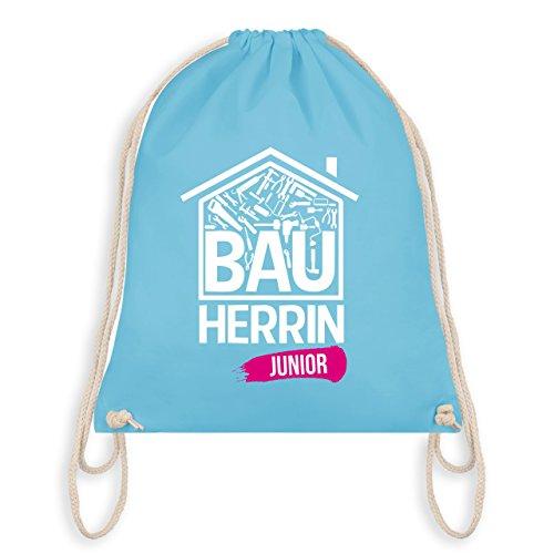Bunt gemischt Kinder - Bauherrin Junior Heimwerkerin - Unisize - Hellblau - WM110 - Turnbeutel I Gym Bag (Hipster Junior)