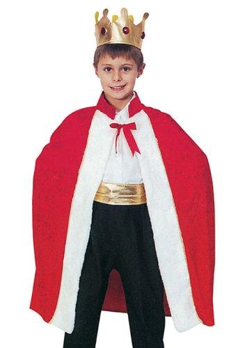 Kinder Kostüm Red Kings Robe Medium (6-8yrs)