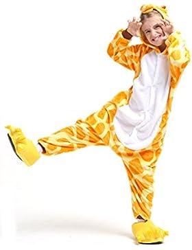 Ganzkörper Tier-Kostüm für Kinder - Plüsch Einteiler Overall Jumpsuit Pyjama Schlafanzug - viele Tiere zur Auswahl