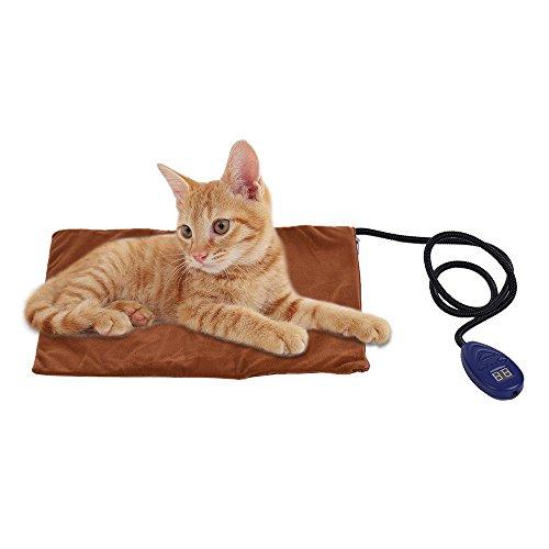 Decdeal - Manta Térmica para Mascotas con Cable Resistente a la Masticación Manta para Perros Gatos de 7 Temperaturas Ajustables (25~55) 12V Talla 40x30cm