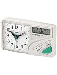 CASIO 10716 TC-110-7E - Reloj Despertador analógico digital blanco