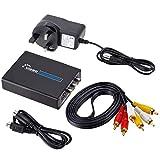 Wallfire 1080P HDMI zu 3 Cinch AV CVBS Composite S-Video Audio Konverter Adapter Videokonverter (Size : UK Plug)