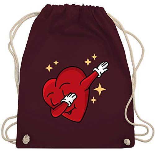 Valentinstag - Dabbing Herz - Valentinstag - Unisize - Bordeauxrot - WM110 - Turnbeutel & Gym Bag