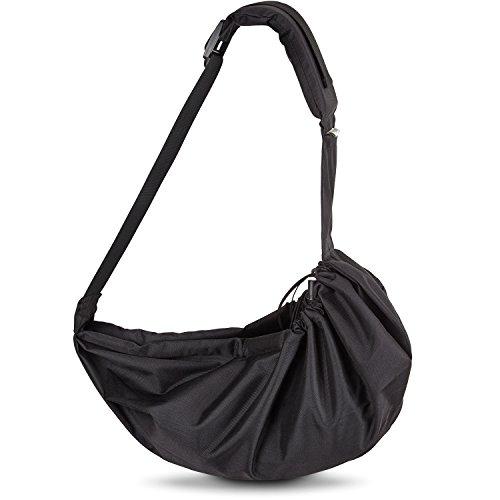 VITAZOO Hundetragetasche mit komfortablem Schulterkissen, verstellbar, waschbar, belastbar bis 15 kg | 2 Jahre Zufriedenheitsgarantie | Tragetasche für Hunde und andere Haustiere, Transport-Tasche für Katzen, Hunde-Rucksack, Hunde-Tragebeutel, Seitentragetasche, Umhänge-Tasche
