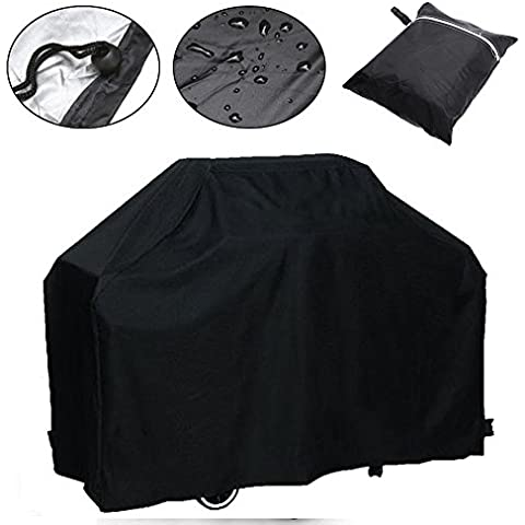 Waterproof BBQ Grill Cover Barbecue Grill Gas Covers Outdoor Indoor Protector (Only Black available) (Barbecue Covers)