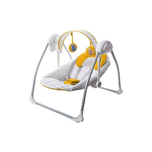 Kinderkraft - Silla hamaca para bebé (amarillo)