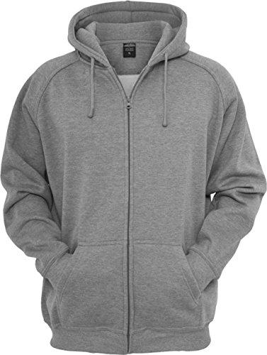 Urban Classics Zip Hoody, Sweat-Shirt àCapuche Homme, Mehrfarbig Gris - Gris