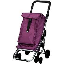 Playmarket Go Up - Carro de compras, capacidad 39,5 l, tapa regulable, bolsa térmica de 6 l, color ciruela