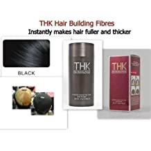 THK Hair Building Fibres Black 25g Instantly Makes Hair Fuller & Thicker