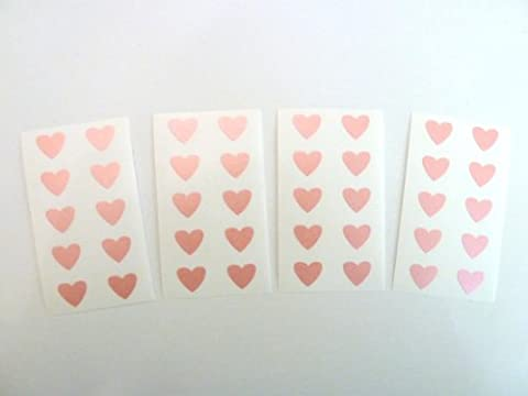 Mini stickers étiquettes en forme de cœurs Rose 13 x 12 mm-En Papier autocollant