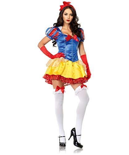 Top Totty COMELY Snow White Princess Kostüme Offene Hals Flare Kleid