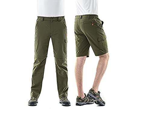Hysenm Homme Pantalon Modulable 2 en 1 Multifonction Short Seconde