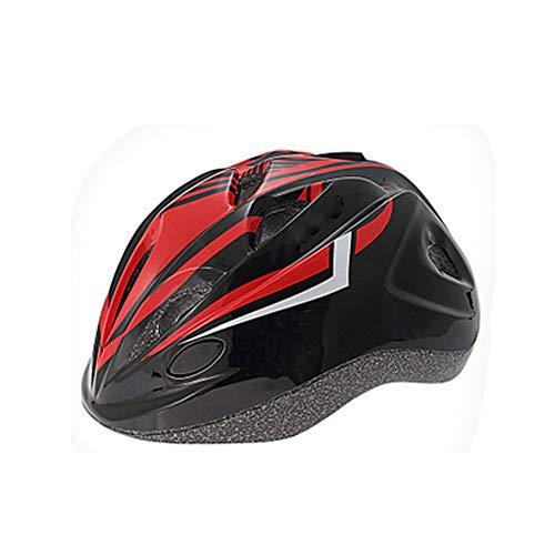 Kinder Fahrradhelm LED Rücklicht Insektennetz Gepolsterte Rennrad Mountainbike Fahrradhelm Leichte Fahrradhelme-black1