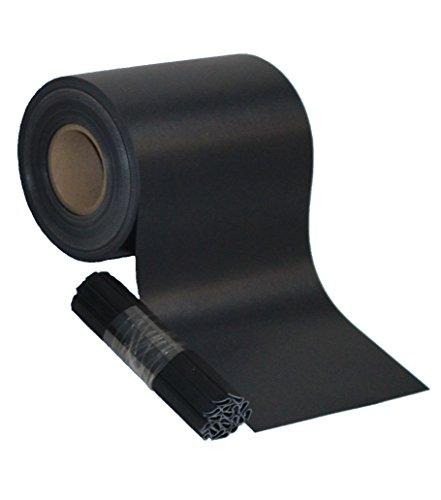 Sichtschutz PVC Zaunfolie Windschutz für Doppelstabmatten Zaun (Anthrazit, 70 m)