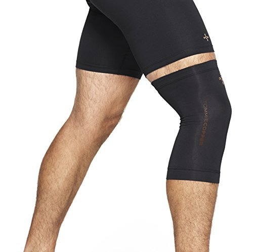 e73a18ee23 Tommie Copper Men's Contoured Compression Knee Sleeve, Black, X-Large by Tommie  Copper