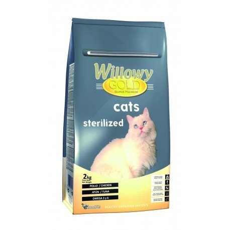 Willowy - Gold Cats Esterilizados Saco De 2 Kg