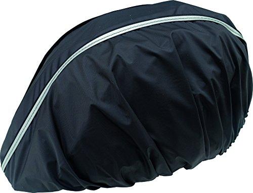 Sunnybaby 47088.0 Regenschutz 'Cap' für Fahrradhelm mit Reflektorstreifen, schwarz
