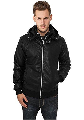 Leather Imitation Jacket Schwarz