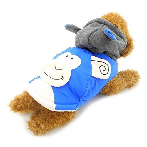 Coat Lab Idee Kostüm - selmai Affe Hunde Kostüm Kapuzenanorak mit Baumwollfutter Hoodies Coat Fleece gefüttert, für kleine Hunde/Katzen