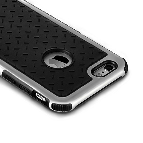 Celkase Iphone 5/5S Case, Slim Soft Protective Silicone Bumper Back Cover With [Excellent Grip] Black Silver Back Cover (Silver))