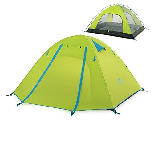 Azarxis 1 2 3 4 Mann Person Zelt 3 Saison Familie Easy Up Leichte wasserdichte Ultralight Große professionelle Doppelschicht für Backpacking Camping Wandern (Grün, 2-3 Personen)