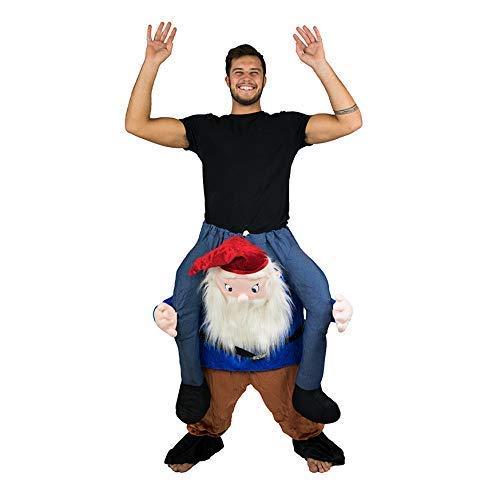 Bodysocks® Gnomen Huckepack (Carry Me) Kostüm für Erwachsene (Halloween Gnom Kostüm)