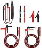 Messleitungen, Meterk Multimeter für Kabel Prüfkabel, Messleitungen für Multimeter mit Zubehör Kit von Testverlängerung, Testsonde, Krokodilklemme und SMD Patch Test Clip(MK29)