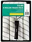"Harris 9"" Roller Frame Paint Tray & 6 Woven Sleeves Set 4310"